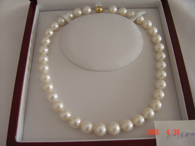 11mm grade AA white pearl necklace